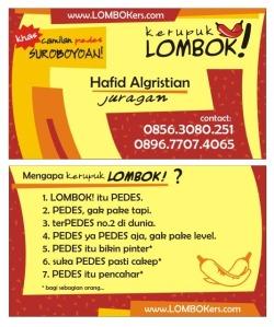 kartu nama lombok